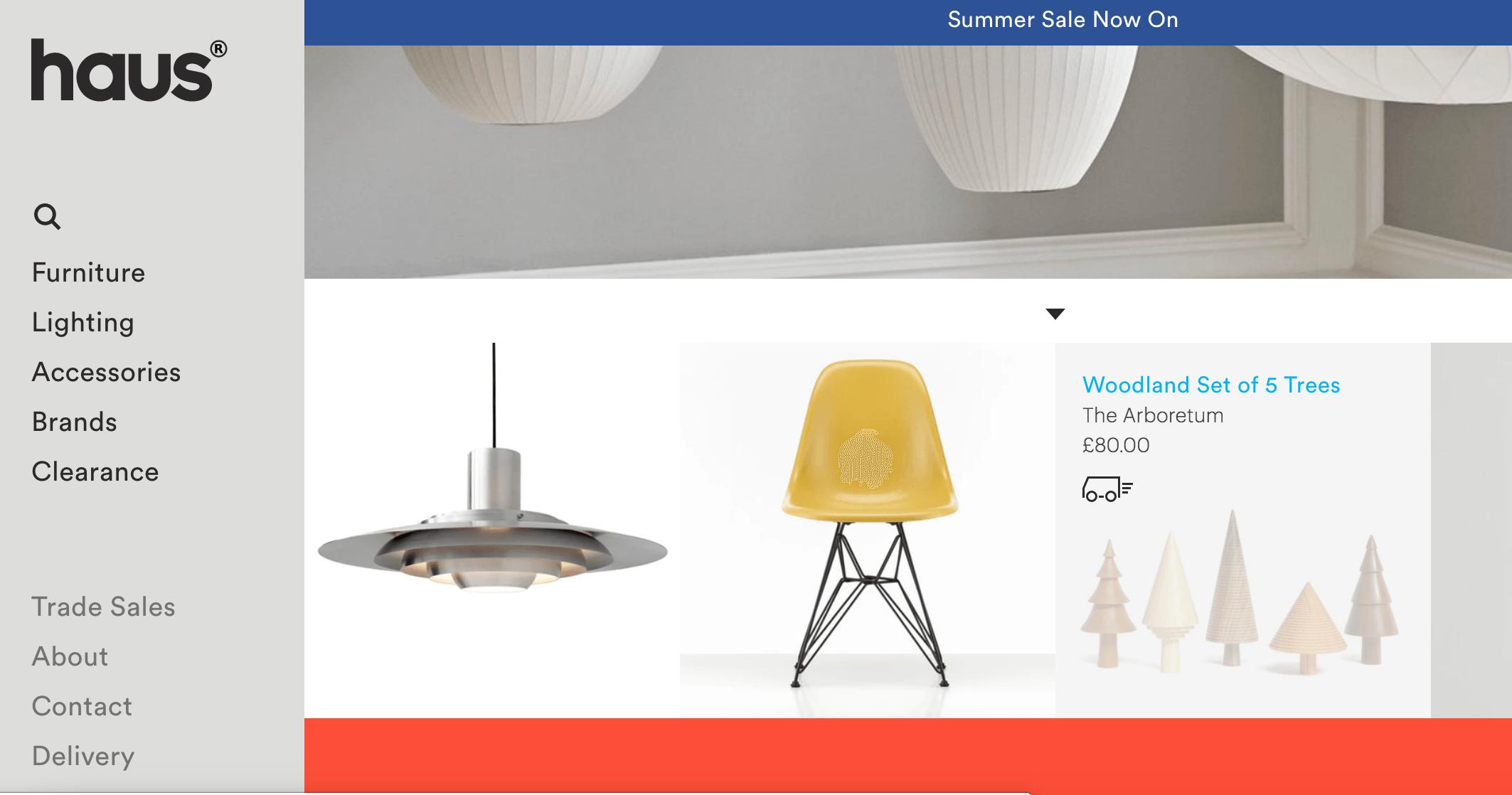 shopify websites for furniture